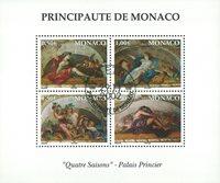Monaco - De 4 Årstider - Stemplet miniark
