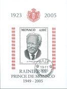 Monaco - Rainier III - Bloc-feuillet oblitéré