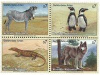 FN Wien - Truede Dyr 1993 - Postfrisk sæt 4v