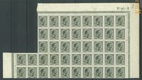 Danmark - AFA 100 postfrisk blok med 44 frimærker