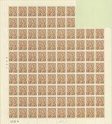 Danmark - AFA 211 postfrisk blok med 94 frimærker