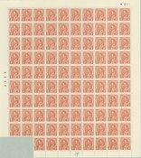 Danmark - AFA 212 i blok med 98 postfriske frimærker