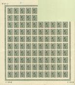 Danmark - AFA 100 postfrisk blok med 90 frimærker