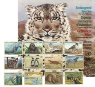 UN - Folder with endangered species 1993 - Special folder