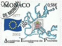 Monaco - Det filatelistiske akademi - Stemplet frimærke