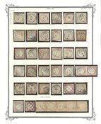 Peru - Stemplet lot på 1 albumblad 1862-63