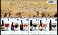 Belgien - Trappist øl - Postfrisk miniark