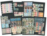 Monaco - Samling i indstiksbog 1948-1977, postfrisk og stemplet