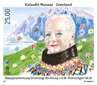 Queen Margrethe II 80 Years - Mint - Stamp