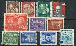 German Democratic Republic - Composition of mint stamps