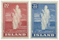 Island - Geyser-frimærker - AFA 195+196 - Postfrisk