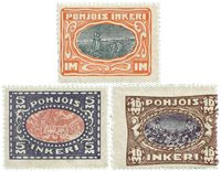 North Ingria - Finland - 3 mint stamps