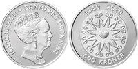 Danmark 2020 - Dronning Margrethe II 80 år - 500 kr. - Sølv