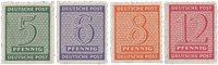 Tyskland Zoner 1945 - Michel 116/119CX - Postfrisk
