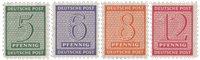 Tyskland Zoner 1945 - Michel 120/123X - Postfrisk