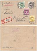 Zones allemandes (1945-1949) 1945 - Michel 43, 45,  47, 50 DIII - Oblitéré