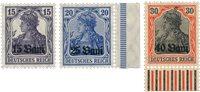 Tysk besættelse 1917 - Michel 1/3F - Postfrisk