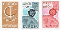 Andorre française 1966/1967 - YT 178/180 - Neuf