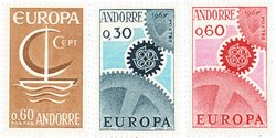 Andorre français 1966/1967 - YT 178/180 - Neuf
