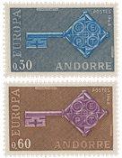 Andorre française 1968 - YT 188/189 - Neuf