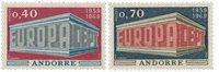 Andorre française 1969 - YT 194/195 - Neuf
