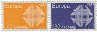 Andorre française 1970 - YT 202/203 - Neuf
