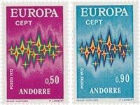 Andorre française 1972 - YT 217/218 - Neuf