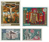Fransk Andorra 1975/1976 - YT 243/244+253/254 - Postfrisk