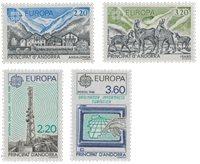 Andorre française 1986+1988 - YT 348/349+369/370 -  Neuf