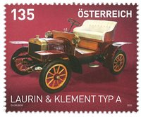 Autriche - Ancienne voiture Laurin & Klement - Timbre neuf
