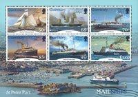 Guernsey - Europa 2020 Oude Postroutes - Postfris souvenirvelletje