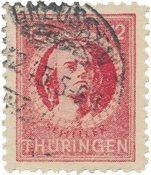 Zones allemandes (1945-1949) 1945 - Michel 97AXax - Oblitéré