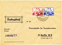Østtyskland/DDR 1951 - Michel 282/283 - Stemplet