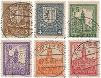 Tyskland Zoner 1946 - Michel 156/161x - Stemplet