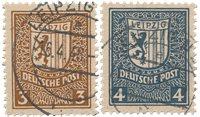 Zones allemandes (1945-1949) 1946 - Michel 156/157x - Oblitéré