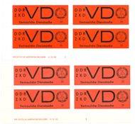 Allemagne de l'Est 1965 - Michel xDV3/yDV1 - Neuf