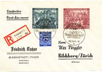 Tyskland Zoner 1949 - Michel 240/241+210 - Stemplet