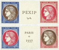 France 1937 - YT 348-51 - Neuf