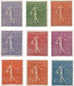 Frankrig 1924 - YT 197/205 - Ubrugt