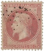 Frankrig 1867 - YT 32 - Stemplet