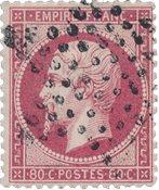 Frankrig 1862 - YT 24 - Stemplet