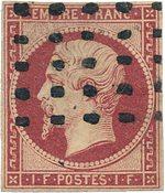France - 1853 - YT 18, oblitéré