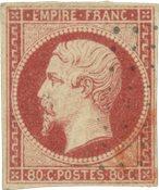 Frankrig 1854 - YT 17A - Stemplet