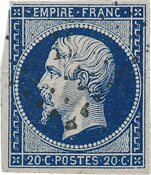 Frankrig 1854 - YT 14ab - Stemplet