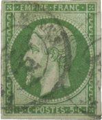Frankrig 1854 - YT 12 - Stemplet