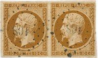 France - 1852 - YT 9, oblitéré