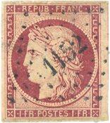 France - 1850 - YT 6b, oblitéré