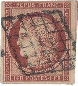 France - 1850 - YT 6, oblitéré
