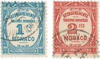 Monaco 1932 - YT T 27/T28 - Stemplet