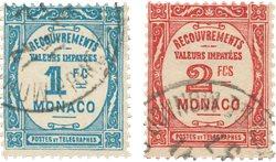 Monaco 1932 - YT T 27/T28 - Oblitéré